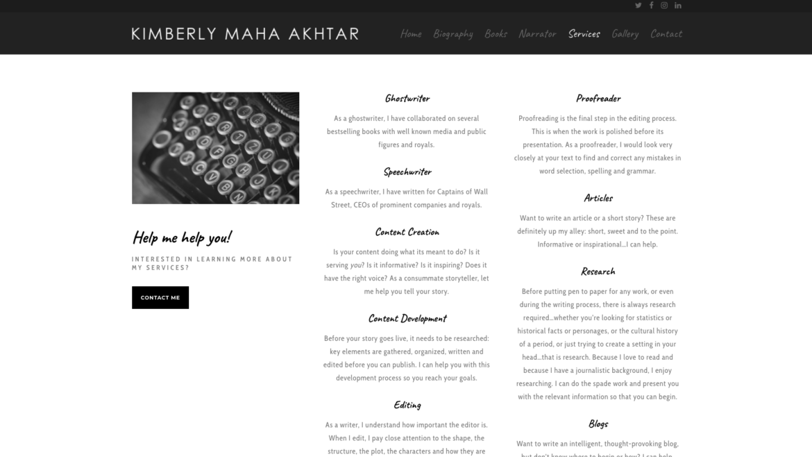 Kimberly Maha Akhtar - New York Website Designer